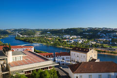 View on the historic center of Coimbra, Portugal Stock Photography