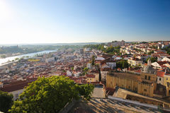 View on the historic center of Coimbra, Portugal Stock Images