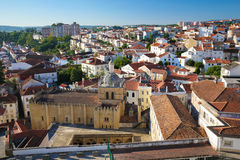 View on the historic center of Coimbra, Portugal Royalty Free Stock Photography