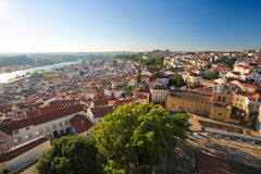 View on the historic center of Coimbra, Portugal Royalty Free Stock Images