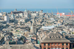 View of the historic center of Genoa. Top view of a part of the historic center of Genoa Royalty Free Stock Photo