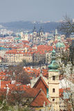 View on the historic center of Prague, Czech Republic Royalty Free Stock Photo