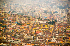 View of the historic center of Quito, Ecuador Royalty Free Stock Photography