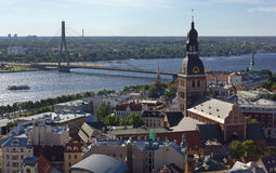 View of Historic Center of Riga Royalty Free Stock Images