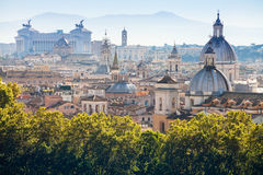 View of historic center of Rome on Capitoline Hill Royalty Free Stock Photo