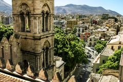View of the historic centre and Cathedral from the roof in Paler Royalty Free Stock Photos