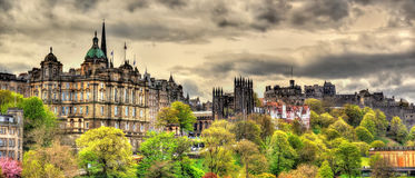 View of the historic centre of Edinburgh Royalty Free Stock Images