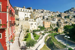 View of the historic centre of Ragusa in Sicily Stock Photos