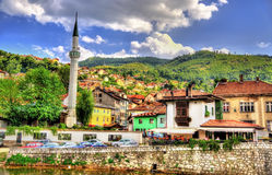 View of the historic centre of Sarajevo Stock Images