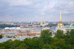 View of historic centre of St.Petersburg Royalty Free Stock Images