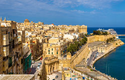 View of the historic centre of Valletta Stock Photography