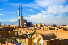 View of the historic centre of Yazd Royalty Free Stock Photos