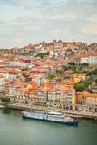 Porto in the morning. Portugal. View of the historic city of Porto and river Douro at dawn. Summer Royalty Free Stock Photography