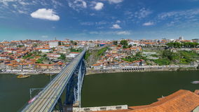 View of the historic city of Porto, Portugal with stock footage
