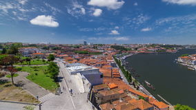 View of the historic city of Porto, Portugal with stock video