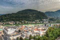 View of the historic city of Salzburg, Salzburger Land, Austria. HDR Stock Images