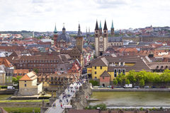 View of the historic city of Wuerzburg Stock Photography