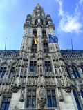 View of the historic cityhall in the center of Brussels Royalty Free Stock Images