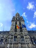 View of the historic cityhall in the center of Brussels Royalty Free Stock Image