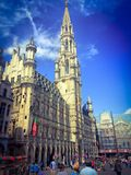View of the historic cityhall in the center of Brussels Stock Image