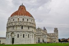 View historic complex of Pisa, Italy. Fotost filmed in 2018. View historic complex of Pisa, Italy. .Fotost filmed in 2018 stock photo