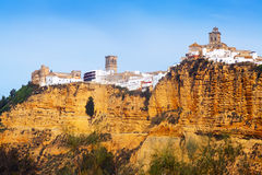 View of historic  district in  Arcos de la Frontera Stock Photo