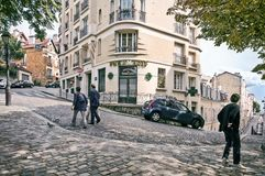 View of the historic district of Montmartre in Paris, France Royalty Free Stock Photo