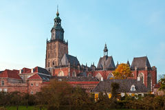 View at the historic Dutch town Zutphen Royalty Free Stock Images