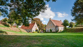 View on historic Fortress Bourtange, Groningen. The Netherlands Stock Photo