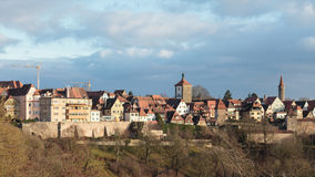 View of the historic German city of Rothenburg ob der Tauber in Royalty Free Stock Photography