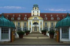 Historic Kurhaus in Binz on Ruegen Baltic Sea. View of the Historic Kurhaus in Binz on Ruegen stock image