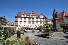 A view of the historic market square in Coburg, Germany Stock Photography