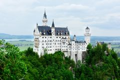 View of historic Neuschwanstein Castle Stock Photo