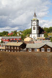 View of the historic Norwegian mining town Røros Stock Images