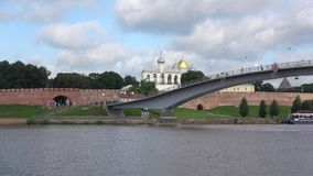View of the historic part of the city of Veliky Novgorod summer day. Russia stock video footage