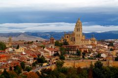 View of the historic quarter of Segovia, Spain Royalty Free Stock Photography