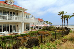 View of historic resort, Hotel del Coronado, California, 2016 Stock Photos