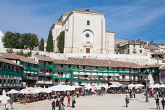 View of historic small town Chinchon near Madrid. Royalty Free Stock Photos