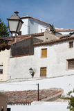 View of historic small town Chinchon near Madrid. Royalty Free Stock Photo