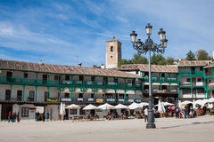 View of historic small town Chinchon near Madrid, Royalty Free Stock Image