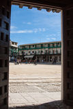 View of historic small town Chinchon near Madrid. Royalty Free Stock Images