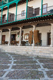 View of historic small town Chinchon near Madrid. Royalty Free Stock Image