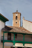 View of historic small town Chinchon near Madrid. Stock Photo