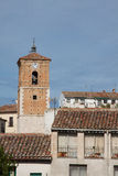 View of historic small town Chinchon near Madrid. Royalty Free Stock Photography