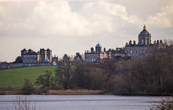 View of a Historic Stately Home. A panoramic view of an historc stately home stock image