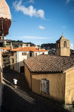 View on historic street of Santu Lussurgiu, Sardinia Royalty Free Stock Photography