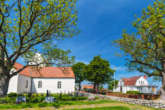 View at the historic Swedish village of Kristianopel Stock Image