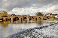 Devorgilla Bridge over the River Nith in Dumfries Stock Photography