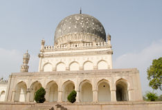 Tomb of Hayat Bakshi Begum. View of the historic tomb of Hayat Bakshi Begum.  One of the Qutb Shahi Tombs, built in the 17th and 18th centuries in Golcanda Royalty Free Stock Photography