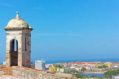 View on historic town from San Filipe de Barajas castle Stock Images
